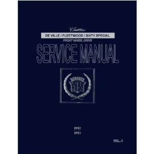 1992 1993 CADILLAC 60 DEVILLE FLEETWOOD Service Manual Automotive