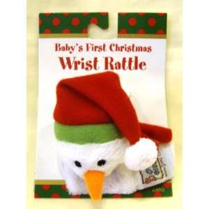Babys First Christmas Snowman Wrist Rattle Toys & Games