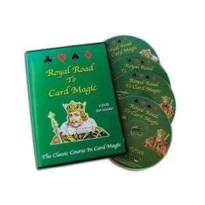 Royal Road To Card Magic Instructional 4 DVD SET Toys