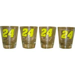 Jeff Gordon Nascar Racing Shot Glasses