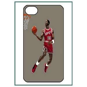 Michael Jordan MJ Chicago Bulls NBA iPhone 4 iPhone4 Black
