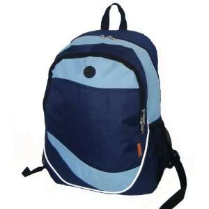 18 Multi Pocket Backpack   Navy/Light Blue Case Pack 30