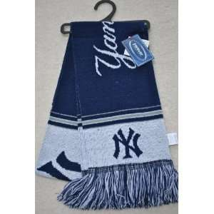 New York Yankees MLB Stadium two sided Team logo Scarf