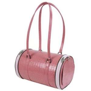 Madison Pink Croc Leather Pet Carrier  Size SMALL