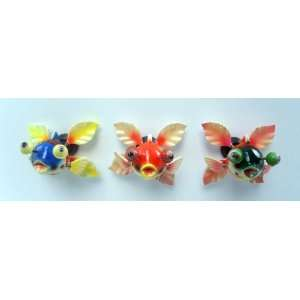 Goldfish   Refrigerator Bobble Magnet (Set of 3)