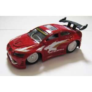 Remote Control Car   Red Mitsubishi Lancer Evo III R/C Car Toys