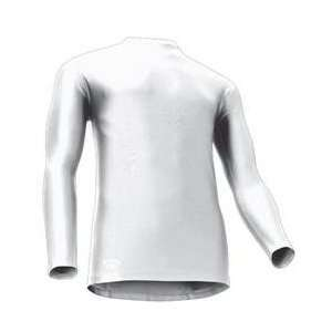 Tight Fit Compression Long Sleeve Mock, Medium, White