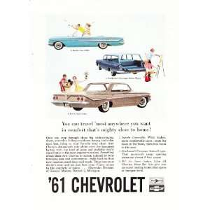 Impala Bel Air Station Wagon Original Car Print Ad