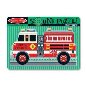 Fire Truck Wooden Sound Puzzle Toys & Games