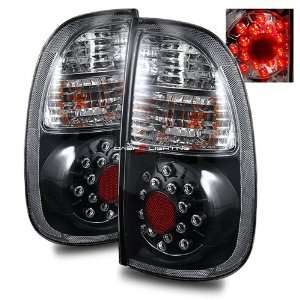 05 06 Toyota Tundra Access Cab LED Tail Lights   Black