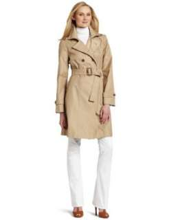 AK Anne Klein Womens Double Breasted Fashion Trench Coat Clothing