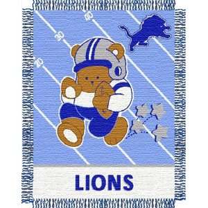 Detroit Lions NFL Woven Jacquard Baby Throw  Sports