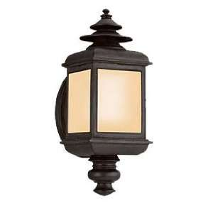 ADAMS 1LT WALL LANTERN FLUORES COLONIAL IRON