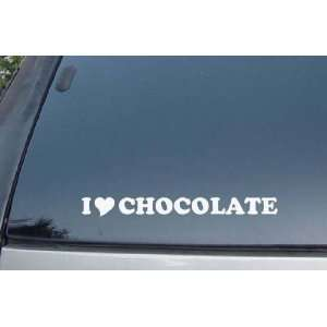 Love Chocolate Vinyl Decal Stickers