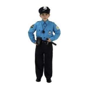 Jr Police Officer Suit Child Costume Size 6 8 Toys