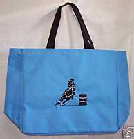Barrel Racing Racer BLUE tote bag horse rodeo western C