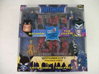 Batman Gotham City Figures Pack  Batman, Joker, Catwoman, and Two Face