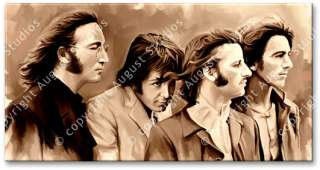 THE BEATLES Lennon Original Signed CANVAS ART PAINTING