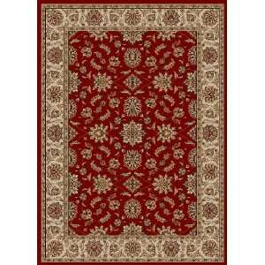 Como Collection Red Traditional Rug With Border 3.30 x 4