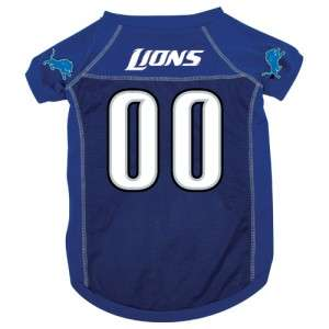 Detroit Lions NFL Pet Dog Blue Jersey Shirt L