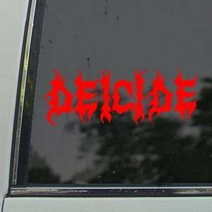 Deicide Red Decal Metal Band Car Truck Window Red Sticker