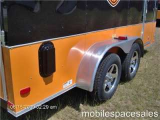 14enclosed cargo bike trailer/harley Davidson decal