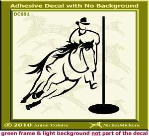 Pole Bending Horse Window Trailer Decal Sticker 691