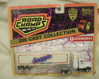 Road Champs Snapple Kenworth Truck 1995 HO Scale MOC