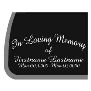 CUSTOM In Loving Memory Car Decal / Sticker Automotive